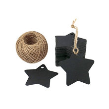 2.36mm Star Shape black recycled hang paper tag