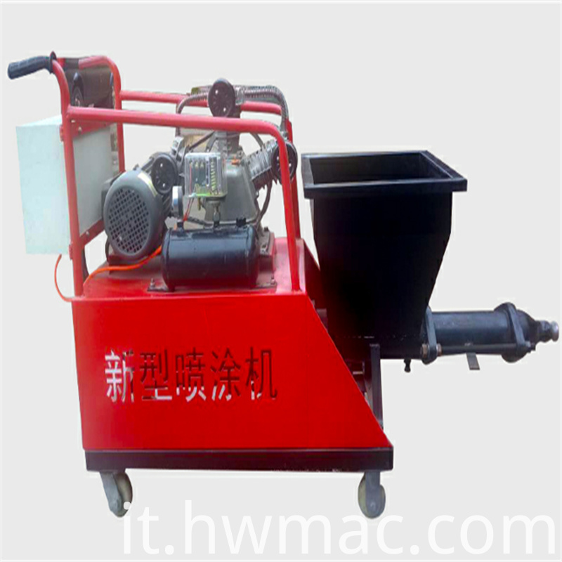 Screw mortar spraying machine