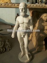 Marble nude man statue