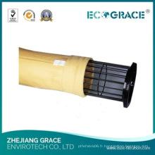Sachet filtre de haute qualité P84 / Polyimide pour la filtration de l'industrie chimique