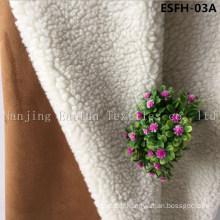 Plain Col Suede Bonded Faux Fur Esfh-03A