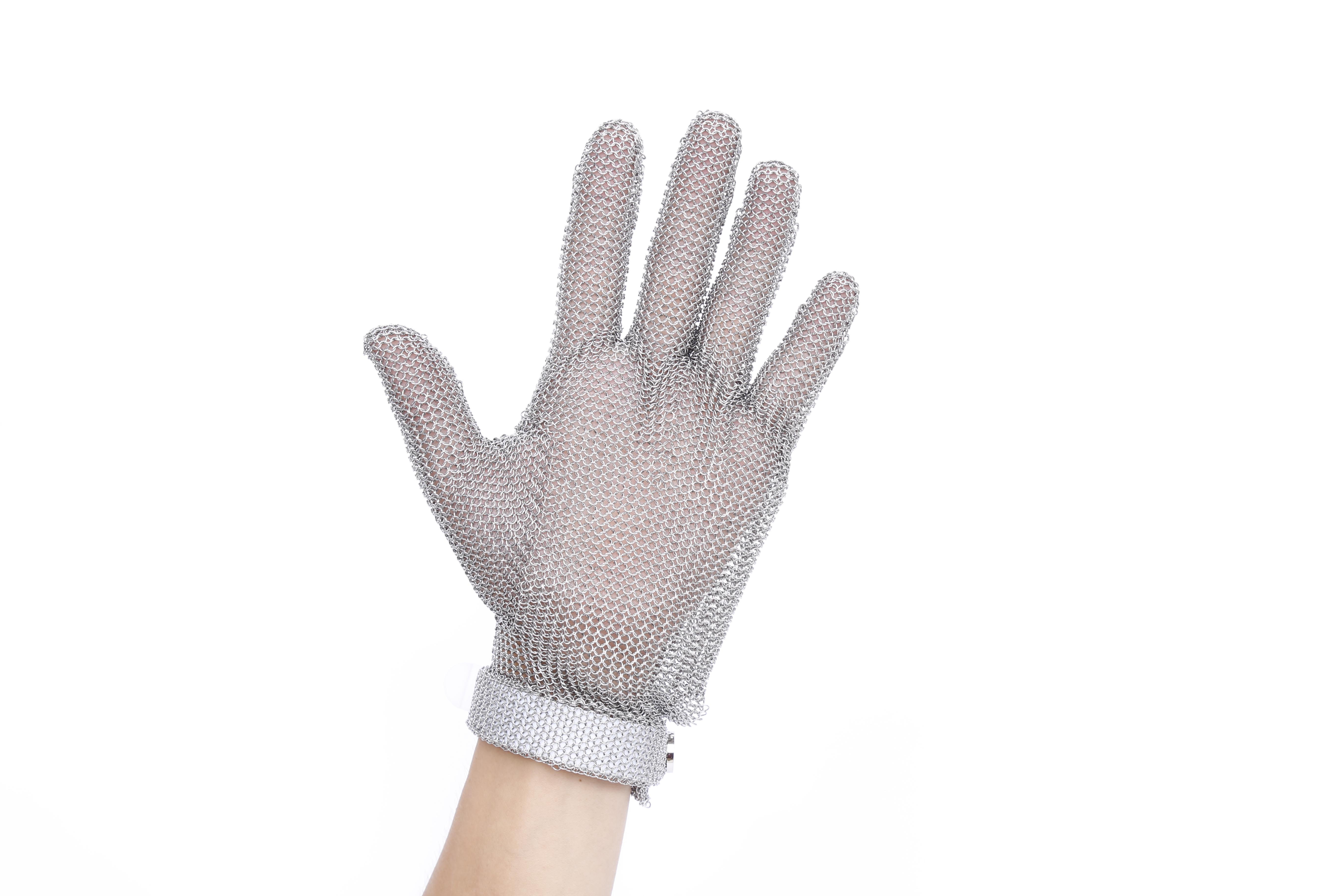 Dubetter wrist length steel mesh glove
