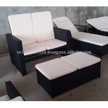 Mobiliário de jardim / exterior em vime - Conjunto de sofá ajustável Gaslift