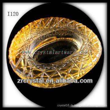 K9 Crystal Aschenbecher mit Vogelnest Form