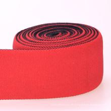 Elastisches rotes Polyester / Nylon / Baumwollband elastisch mit Enden
