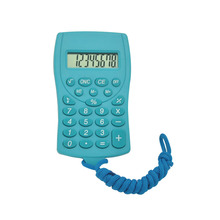 8 Digits Cute Cookie Pocket Calculator with Lanyard