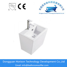 Rectangular wide bathroom sink