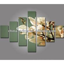 Grupo enorme moderno de la flor impresiones de la lona de la lona