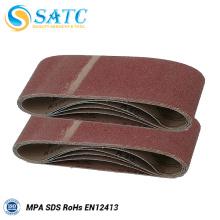 Cintas de lixa abrasivas flexíveis e polidas para piso de madeira