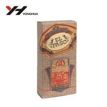 perfume de diseño de arte marrón kraft o cosméticos caja de papel de embalaje
