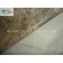 105 * 300 D microfibra poliéster dobra camurça tecido para sofá