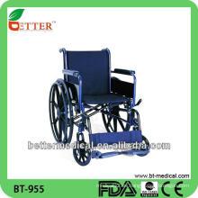 Uso médico / uso hospitalario plegable silla de ruedas de acero