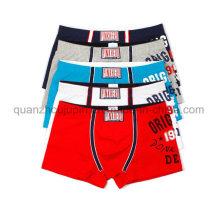 Impression personnalisée Logo Vente chaude Mode Hommes Coton Sous-vêtements