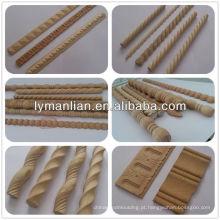 Moldura decorativa de madeira de faia