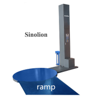 Pembungkus meja putar semi-otomatis dengan ramp