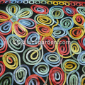 Multi Color Ribbon Embroidery Fabric