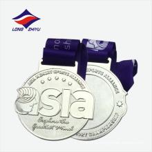 Medalla al por mayor del metal del bronce de la plata del oro con la cinta