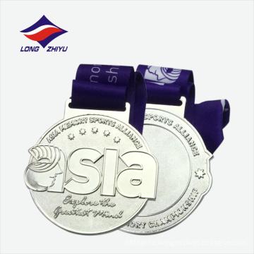 Оптовая золото серебро бронза медаль металла с тесемкой