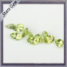 Pierre péridot naturelle cristal clair pour les bijoux de mode