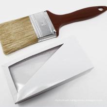 Mixed Bristle Red Plastic Handle Paint Brush