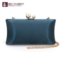 HEC New China Products Moda verde pequeño bolso de satén para señora