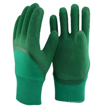 NMSAFETY doublure en coton industriel enduit de gants en latex vert