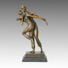 Danse Statue Double Persans Bronze Sculpture, DH Chiparus TPE-192