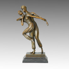Dancer Statue Double Persians Bronze Sculpture, D. H. Chiparus TPE-192