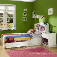 Conjunto de quarto de arrumação de madeira para crianças de tamanho puro de 4 peças