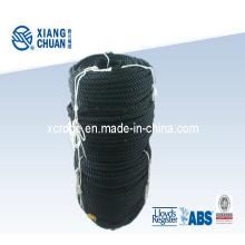 Corde en nylon noire à 3 brins