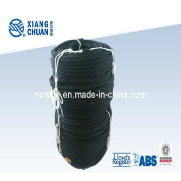 3 Strand Black Nylon Rope