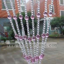 Light Pink Crystal Beads Curtains For Door Screens, High Quality Crystal Beads Curtains