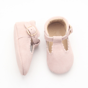 T-bar Shoes Pink Dress Baby Princess Leather Shoes