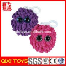 wholesale cheap keychain, big eyed fuzzy plush keychain
