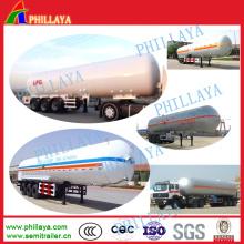 Remorque de réservoir de LPG de pression de transport de stockage de gaz de 52cbm semi