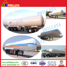 52cbm Gas Storage Transport Pressure LPG Tank Semi Trailer