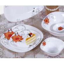 Ensembles-cadeaux de vaisselle en verre de jade blanc