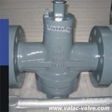 Acero inoxidable CF8m / Ss316 con brida lubricado / válvula de enchufe no lubricado (X41)