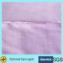 Yarn Dyed Slub Rayon Fabric for Women Clothing