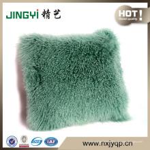 coussin de laine peau de mouton mongolien