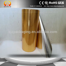 Hochwertiger Edelstahl-Film / gebürstete metallisierte PET-Folie für Aufkleber und Geräte
