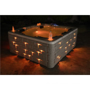 Large Outdoor SPA, Acrylic Massage Outdoor Whirlpool Swim SPA