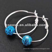 Shamballa beads earrings from China Yiwu Market