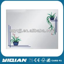 Pintura moderna de la flor del diseño 2016 moderna hecha en el espejo de aluminio de China