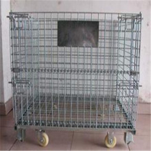 Folding wire mesh basket storage cage