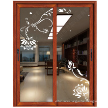 Double 5mm thickness tempered glass for restaurant entrance door