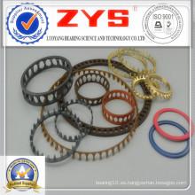 Jaula de rodamientos de plástico, rodamientos de jaula de poliamida, acero galvanizado, latón de acero y otra jaula