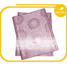 Baby Pink African Party Wedding Fabric Envío gratuito Guinea Brocade Headtie Sego