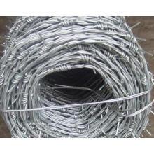Hot-DIP galvanizado alambre de púas Precio de Fábrica