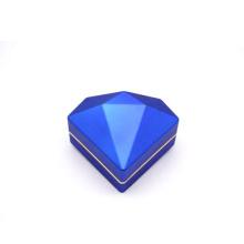 Luxury Special Novel Design Fancy Packaging Gift Premium High End diamond shape LED light Jewelry Box